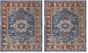 Safavieh Harmony Blue and Rose 11' x 16' Sisal Weave Rectangle Area Rug