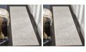 "Safavieh Reflection Light Grey and Cream 2'3"" x 12' Runner Area Rug"