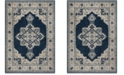 Safavieh Brentwood Navy and Creme 9' x 12' Area Rug