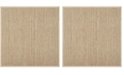 Safavieh Natural Fiber Natural and Beige 10' x 10' Sisal Weave Square Area Rug