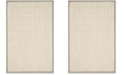 "Safavieh Natural Fiber Marble and Khaki 2'6"" x 4' Sisal Weave Area Rug"
