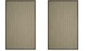 Safavieh Natural Fiber Teal and Brown 6' x 9' Sisal Weave Area Rug