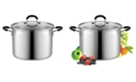 Cook N Home 8 Quart Stainless Steel Stockpot Saucepot with Lid