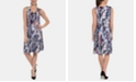 NY Collection Printed Necklace Dress