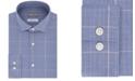 Michael Kors Men's Classic/Regular Fit Non-Iron Airsoft Performance Stretch Check Dress Shirt