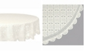"""Design Imports Vintage Polyester Lace Tablecloth 63"""" Round"""