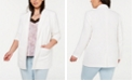 1.STATE Plus Size Textured Crepe Long Blazer