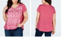 Style & Co Plus Size Metallic Graphic-Print T-Shirt, Created for Macy's