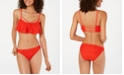 Hula Honey Juniors' Crocheted Flounce Bikini Top, Available in D/DD & Hipster Bottoms, Created for Macy's