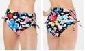 Hula Honey Juniors' Morning Glory Printed High-Waist Bikini Bottoms, Created for Macys