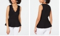 INC International Concepts INC Lace-Trim Peplum Sleeveless Sweater Top, Created for Macy's