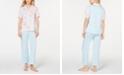 Miss Elaine Printed Top and Pastel Pants Pajama Set