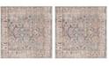 Safavieh Bristol Gray and Light Gray 7' x 7' Square Area Rug