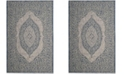 "Safavieh Courtyard Light Gray and Blue 2' x 3'7"" Sisal Weave Area Rug"
