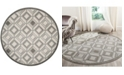 Safavieh Amherst Ivory and Light Gray 7' x 7' Round Area Rug