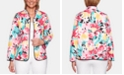 Alfred Dunner Petite Classic Quilted Floral-Print Jacket