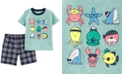 Carter's Baby Boys 2-Pc. Graphic-Print T-Shirt & Plaid Shorts Set
