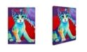"Trademark Global Corina St. Martin 'Colorful Kitten Finningan' Canvas Art - 32"" x 24"" x 2"""