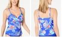 Island Escape Tahiti Floral Push-Up Tankini Top, Created for Macy's