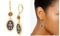 Steve Madden Gold-Tone Flower & Cross Pendant Drop Earrings