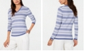 Tommy Hilfiger Striped Cotton V-Neck Sweater, Created for Macy's