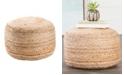 Jaipur Living Mesa Beige Solid Round Pouf