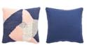 "Jaipur Living Nikki Chu By Tanis Blue/Pink Geometric Down Throw Pillow 22"""