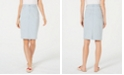Charter Club Petite Striped Denim Skirt, Created for Macy's