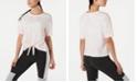 Calvin Klein Tie-Dyed Logo Tie-Front T-Shirt