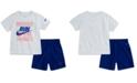 Nike Little Boys 2-Pc. Dri-FIT Heroes Graphic T-Shirt & Shorts Set
