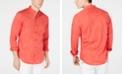 INC International Concepts I.N.C. Men's Stripe Band-Collar Shirt, Created for Macy's