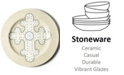 Coton Colors by Laura Johnson Cobble Neutral Cross Platter