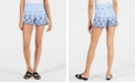 Maison Jules Gingham Embroidered-Trim Cotton Shorts, Created for Macy's