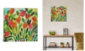 """iCanvas """"Tulip Garden"""" By Kim Parker Gallery-Wrapped Canvas Print - 18"""" x 18"""" x 0.75"""""""