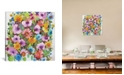 """iCanvas """"Summer Violets"""" By Kim Parker Gallery-Wrapped Canvas Print - 18"""" x 18"""" x 0.75"""""""