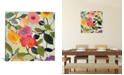 """iCanvas """"Wild Roses"""" By Kim Parker Gallery-Wrapped Canvas Print - 18"""" x 18"""" x 0.75"""""""