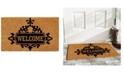 """Home & More Courtyard Welcome 17"""" x 29"""" Coir/Vinyl Doormat"""
