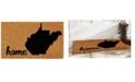 """Home & More West Virginia 18"""" x 30"""" Coir/Vinyl Doormat"""