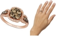 Le Vian Chocolatier® Diamond Halo Ring (1-1/20 ct. t.w.)  in 14k Rose Gold