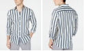 INC International Concepts I.N.C. Men's Elliot Striped Button-Down Shirt, Created for Macy's