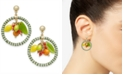 INC International Concepts INC Gold-Tone Multi-Bead and Fruit Circle Drop Earrings, Created for Macy's