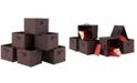 Winsome Capri Set of 6 Foldable Chocolate Fabric Baskets
