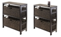 Winsome Granville 3Pc Storage Shelf with 2 Large Baskets