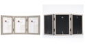 """Lawrence Frames Hinged Triple Gray Wood Picture Frame - Gallery Collection - 4"""" x 6"""""""