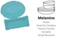 Certified International Perlette Teal Melamine 2-Pc. Platter Set - Rectangular and Oval
