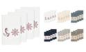 Linum Home Turkish Cotton Easton 4-Pc. Embellished Hand Towel Set