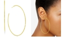 Essentials Large Textured Skinny Hoop Earrings