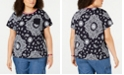 Tommy Hilfiger Plus Size Cotton Rebel Paisley T-Shirt
