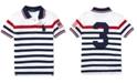 Polo Ralph Lauren Little Boys Striped Cotton Mesh Polo Shirt