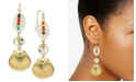 INC International Concepts INC Gold-Tone Multicolor Bead Shell Triple Drop Earrings, Created for Macy's